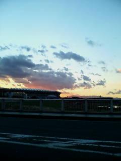 新横浜大橋から日産スタジアムと富士