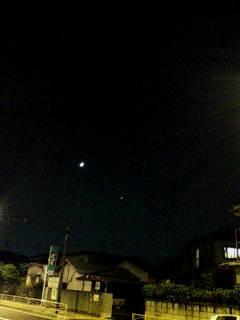 月と……金星?