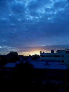 秋らしい夜明け